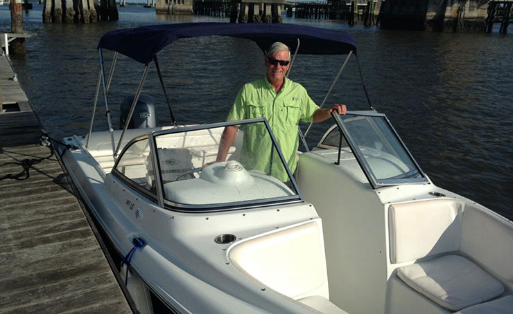 A boat rental in Charleston with owner Gary Cody of SeaQuest Boat Rentals